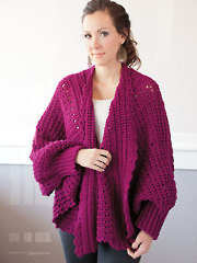 Cozy Cuffed Cape Crochet Pattern Pack - Electronic Download A837353