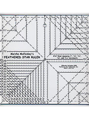 "Feathered Star 8 1/2"" Squared Ruler"
