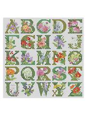 ABC Floral Cross-Stitch Pattern - Electronic Download