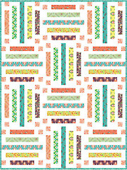 Color Me Crayons Quilt Pattern - Electronic Download