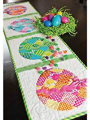 Patchwork Easter Egg Table Runner - Electronic Download