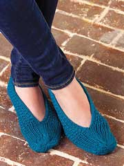 Stitch Sampler Slippers Knit Pattern - Electronic Download