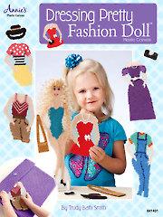 Dressing Pretty Fashion Doll in Plastic Canvas