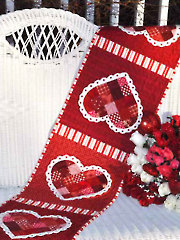 Patchwork Valentine Table Runner Pattern - Electronic Download