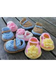 Boy & Girl Baby Shoes Crochet Pattern - Electronic Download