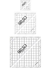 Bloc Loc Half Square Triangle Square Up Rulers Set II