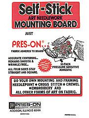 "Original Pres-On Mounting Board - 8"" x 10"""