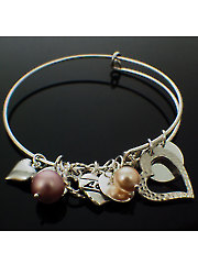 Charmed Bangle Kit Pink Pearls