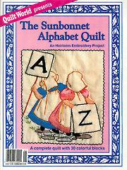 The Sunbonnet Alphabet Quilt - Electronic Download