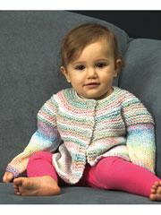 Baby & Toddler Top Down Cardigan Knit Pattern