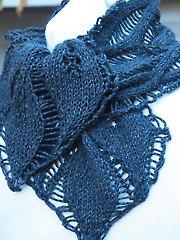 Drop Leaf Scarf Knit Pattern - Electronic Download