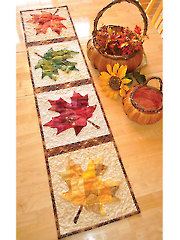 Patchwork Maple Leaf Table Runner Pattern