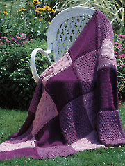 Patchwork Trio Afghan Knit Pattern - Electronic Download