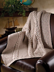 Tempting Texture Throw Knit Pattern