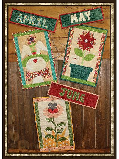 Doodle Days April-June Calendar Quilt Pattern
