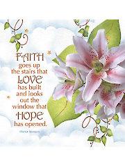"""Lily Faith, Love, Hope Panel - 10"""" x 10"""""""