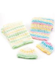 Baby Blankets & Hats Knit Pattern