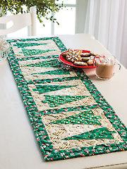 Yuletide Greens Table Runner Kit or Pattern