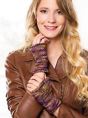 Linen Stitch Wrist Warmers Knit Pattern - Electronic Download