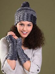 Bliss Hat & Fingerless Gloves Knit Pattern