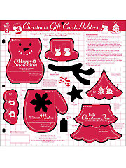 Christmas Gift Card Holders Template