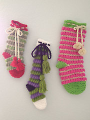 3 Jolly & Bright Christmas Stockings - Electronic Download