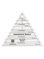 60° Equilateral Triangle Ruler