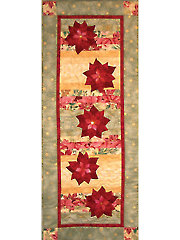Floating Poinsettias Table Runner Pattern - Electronic Download