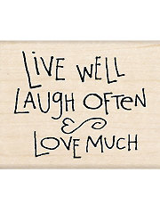 Live Laugh Love Wood Stamp