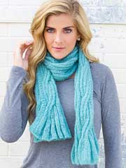 Above the Clouds Scarf Knit Pattern