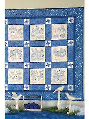 Snow Much Fun Quilt Hand or Machine Embroidery Pattern