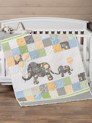 Mommy & Me Elephant Themed Baby Quilt Pattern