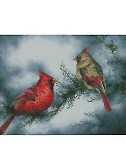 Red Birds Cross Stitch Pattern