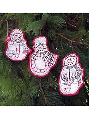 Joy Ornaments Embroidery Pattern