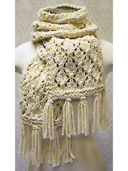 Chunky Lace Knit Scarf