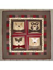 Crooked Bowtie Cats Wall Hanging Pattern