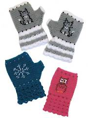 Beaded Fingerless Gloves