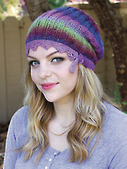 Lace on the Edge Hat Knit Pattern