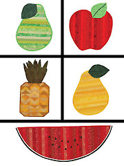 Juicy Fruit Table Runners & Placemats Pattern