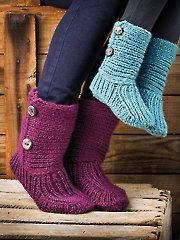 Snug Slippers Knit Pattern - Electronic Download AK00766