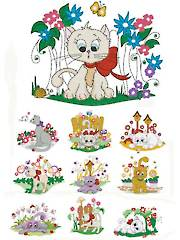 Spring Kitties Embroidery CD