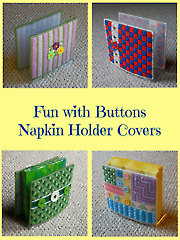 Fun With Buttons Napkin Holder Covers