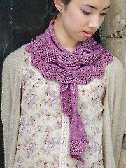 Battenburg Lace Scarf Knit Pattern