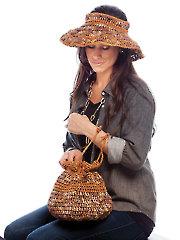 Crochet With Raffia Sun Hat & Purse