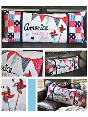 America... Land That I Love Bench Pillow Sewing Pattern