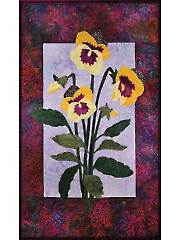 Pansies Laser-Cut Wall Hanging Kit