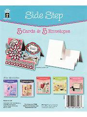Side Step Die Cut Cards & Envelopes 5/pkg
