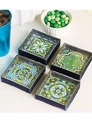 Tile Coaster Set Cross Stitch Pattern