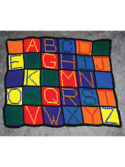 Crochet  Alphabet Letter Squares