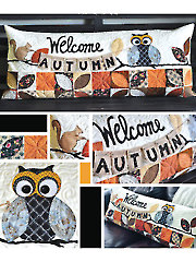 Welcome Autumn Bench Pillow Sewing Pattern - Electronic Download V429963